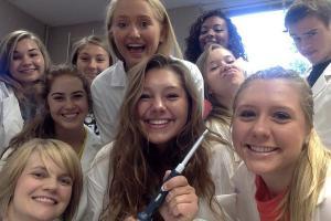 Mrs. Welzenbach's 2014-2015 Medical Interventions Class Selfie.